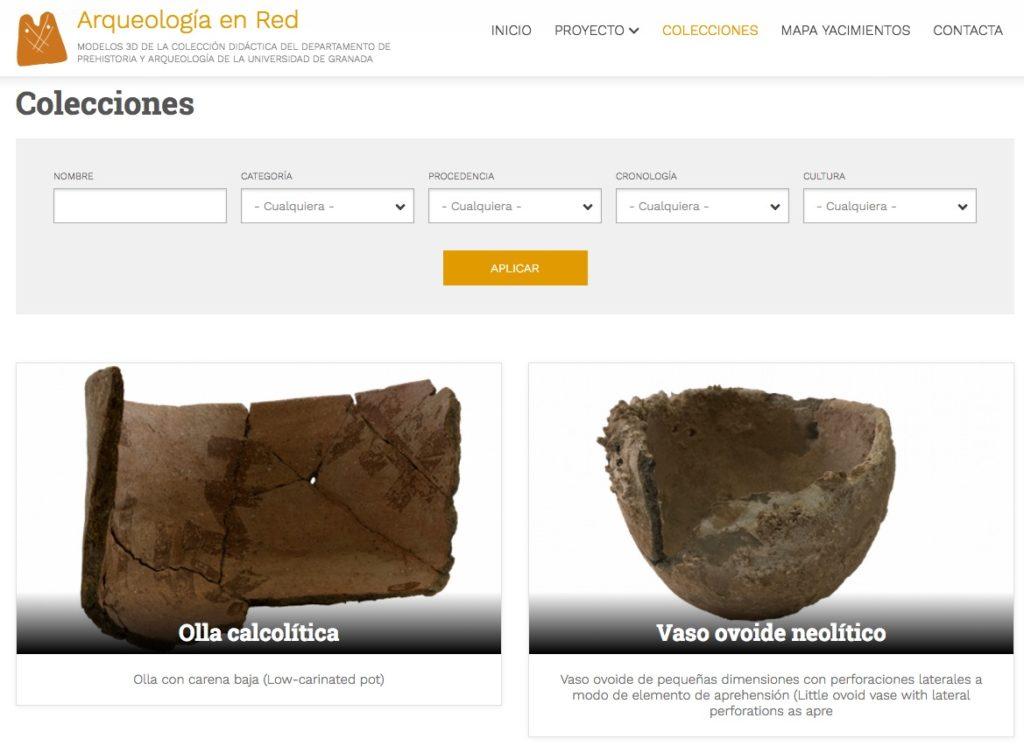 Imagen para el artefacto digital Arqueología En Red. Modelos 3d de la colección didáctica del Departamento de Prehistoria y Arqueología de la Universidad de Granada