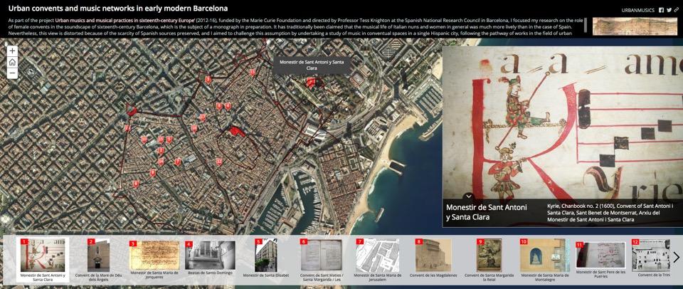 Imagen para el artefacto digital Urban convents and music networks in early modern Barcelona