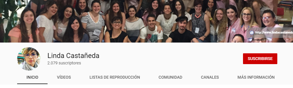 Imagen para el artefacto digital Canal de YouTube — Linda Castañeda