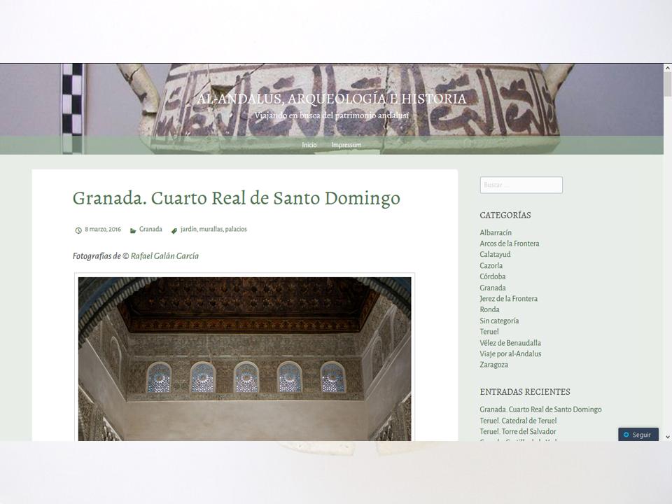 Imagen para el artefacto digital Al-Andalus, Arqueología e Historia - Revista digital