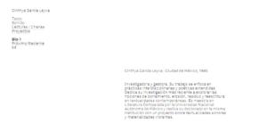 Más información sobre Cinthya García Leyva —Web personal