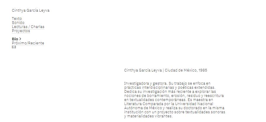 Imagen para el artefacto digital Cinthya García Leyva —Web personal