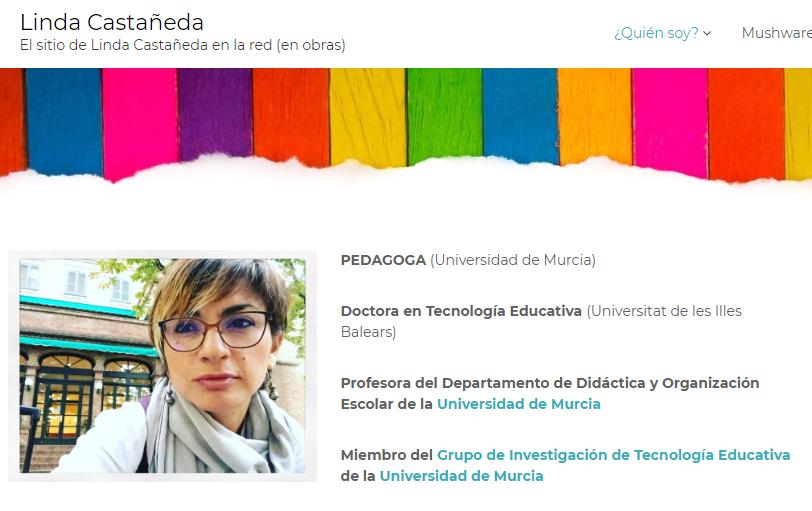 Imagen para el artefacto digital Linda Castañeda — Web personal