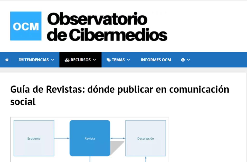 Imagen para el artefacto digital Observatorio de Cibermedios (DigiDoc - UPF)