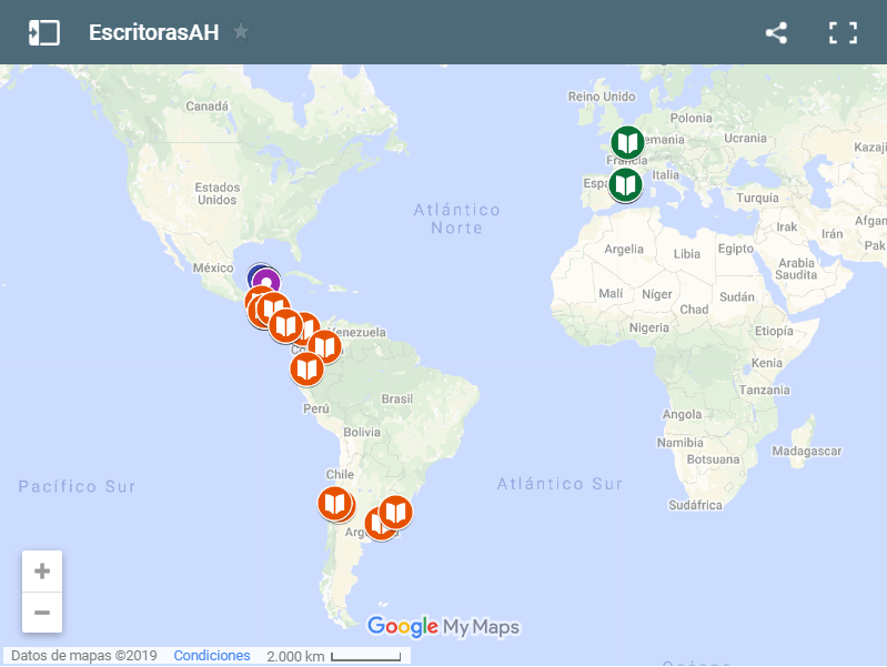 Imagen para el artefacto digital Mapa de EscritorasAH