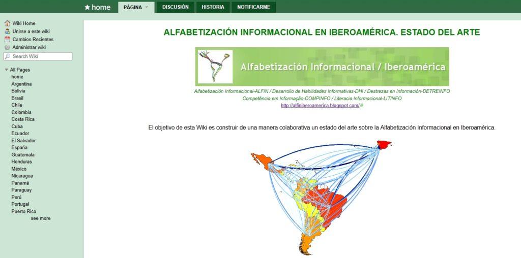Imagen para el artefacto digital Wiki: Alfin Iberoamérica. Estado del Arte