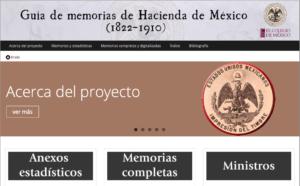 More info about Guía de Memorias de Hacienda de México, 1822-1910