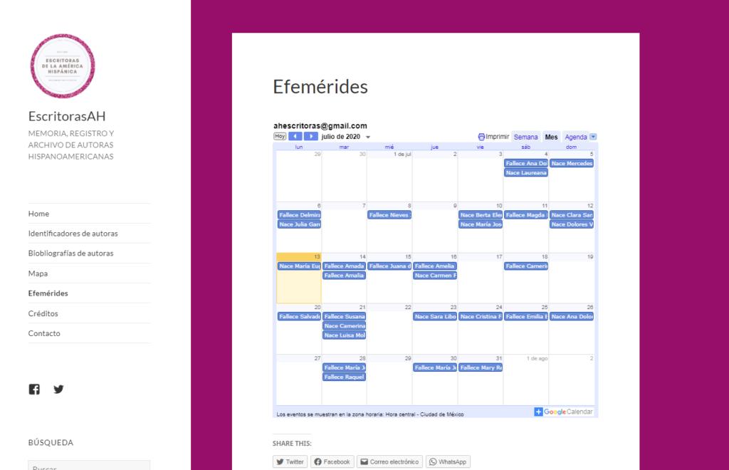 Imagen para el artefacto digital Calendario (efemérides)