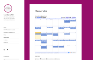 Plus d'informations sur Calendario (efemérides)