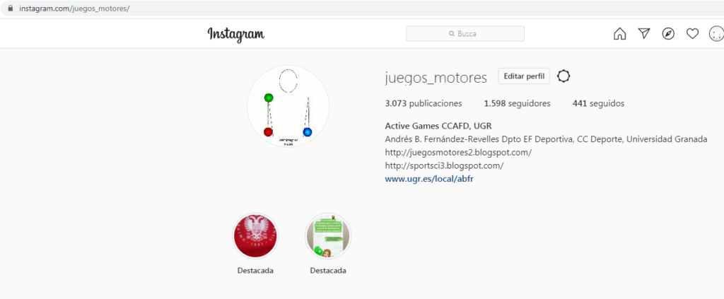 Imagen para el artefacto digital Instagram Juegos Motores