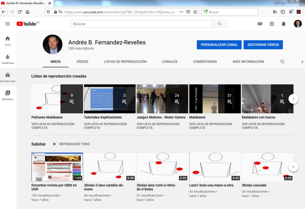Imagen para el artefacto digital Juegos Motores - Personal - YouTube