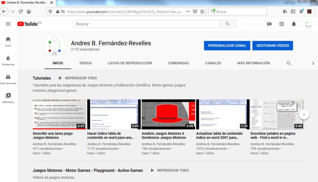 Imagen para el artefacto digital YouTube Juegos Motores