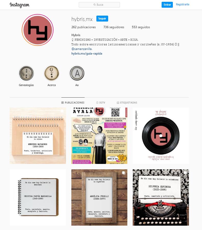 Imagen para el artefacto digital Cuenta de Instagram de Hybris